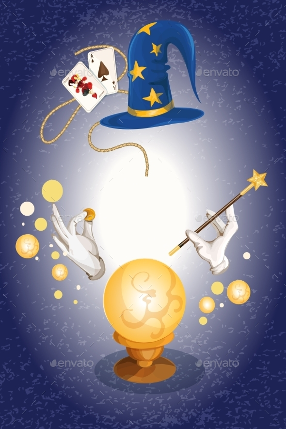 GraphicRiver Magician Background 9338494