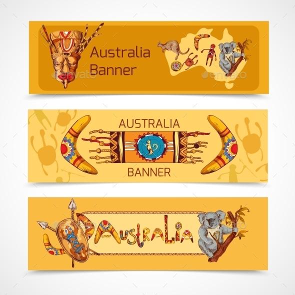 GraphicRiver Australia Banners 9338543