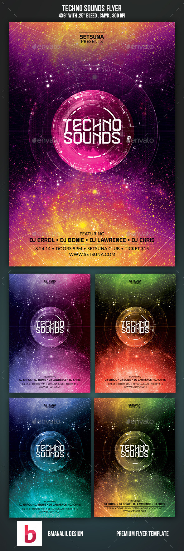 GraphicRiver Techno Sounds Flyer 9338555