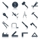Carpentry Tools Icons Black - GraphicRiver Item for Sale