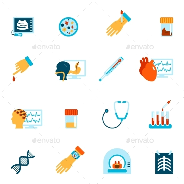 GraphicRiver Medical Tests Icons 9338720