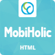 MobiHolic - Ultimate App Landing Business Template - ThemeForest Item for Sale