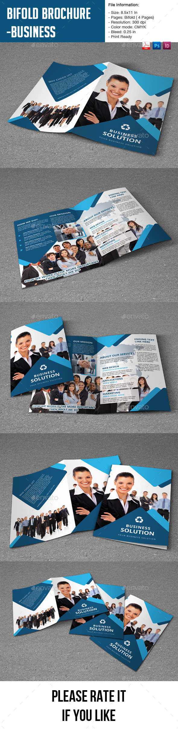 GraphicRiver Bifold Brochure for Business 9338794