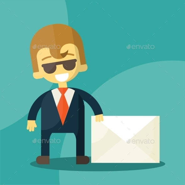 GraphicRiver Set of Businessman Holding Letter 9338797