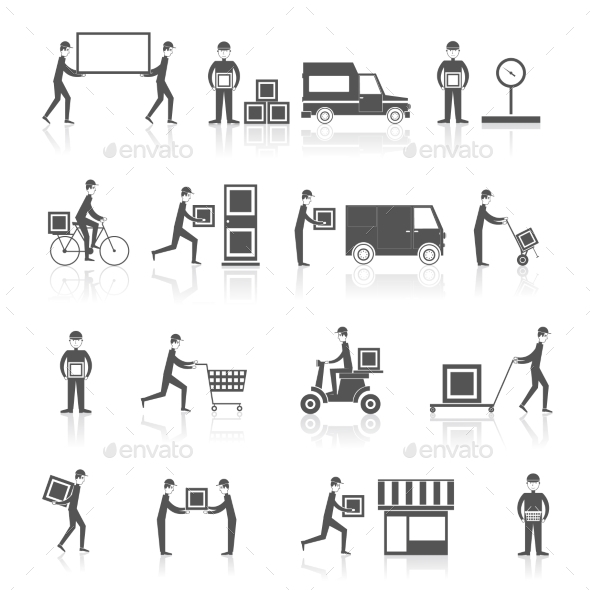 GraphicRiver Delivery Icons 9338798