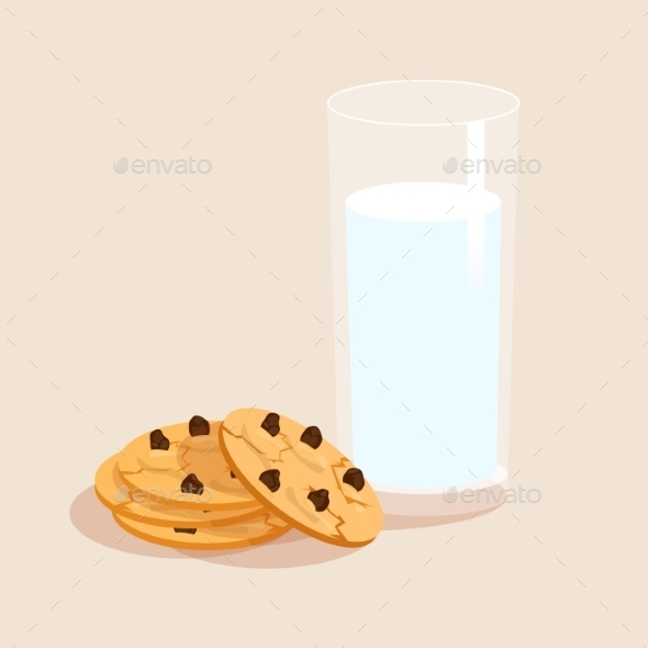 GraphicRiver Milk and Cookies 9338804