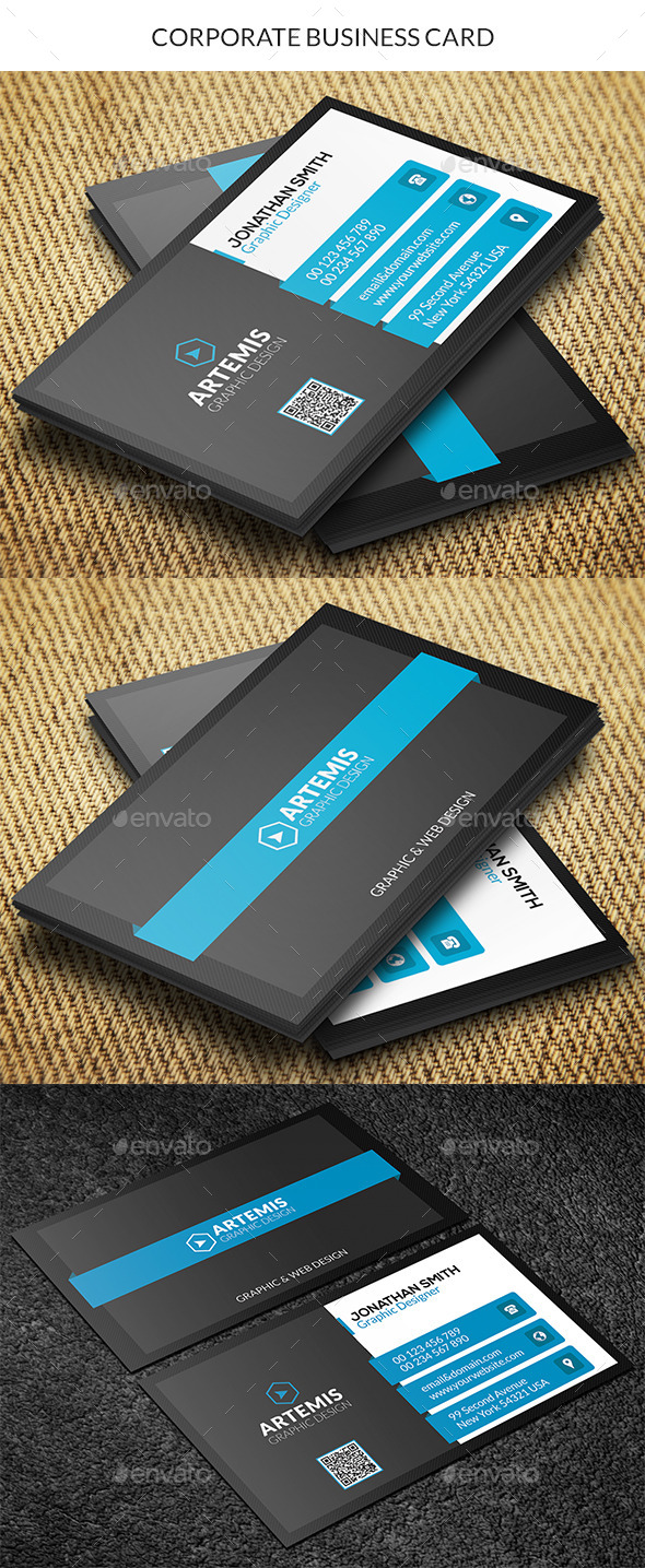 GraphicRiver Corporate Business Card 9338812