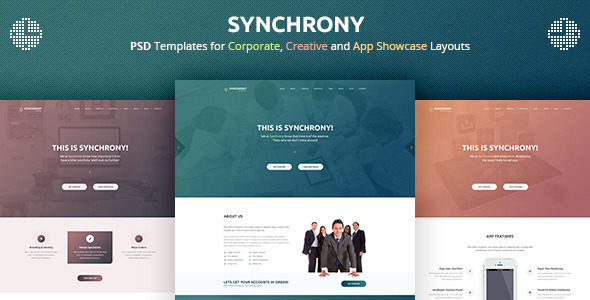 ThemeForest Synchrony A Single-Page PSD Template 9338928