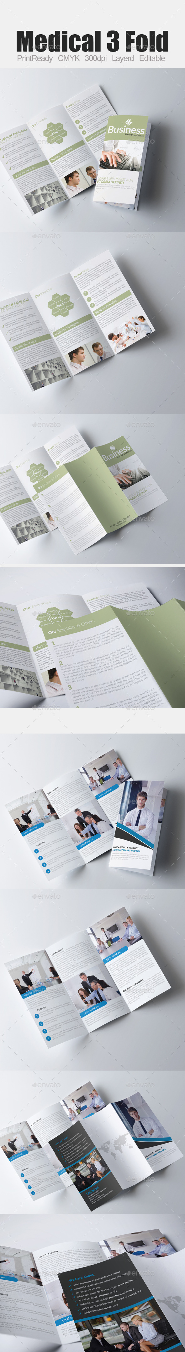 GraphicRiver Tri Fold Business Brochure Bundle 9338962