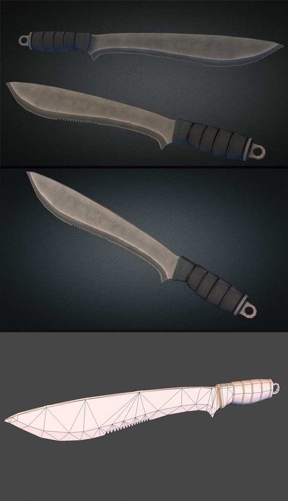 3DOcean Machete Low Poly 9339379