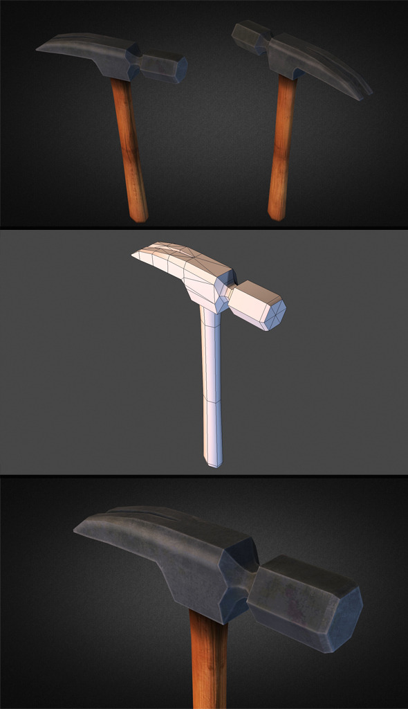 3DOcean Hammer Low Poly 9339395