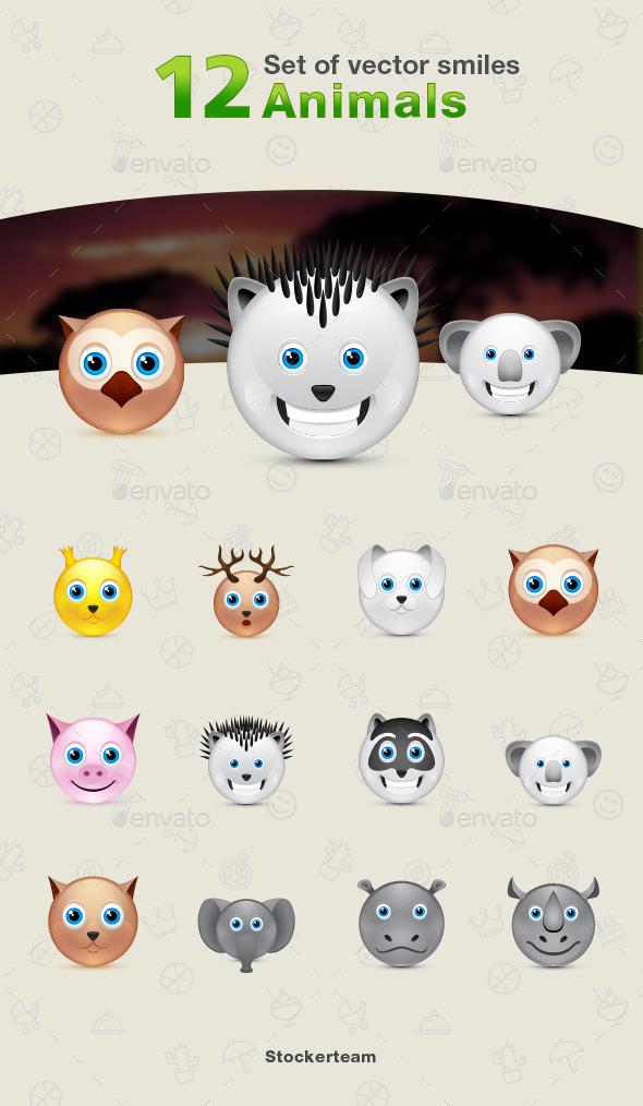 GraphicRiver 12 Animal Icons 9339517