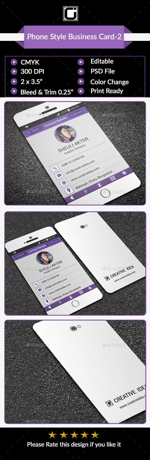 GraphicRiver Phone Style Business Card-2 9304832