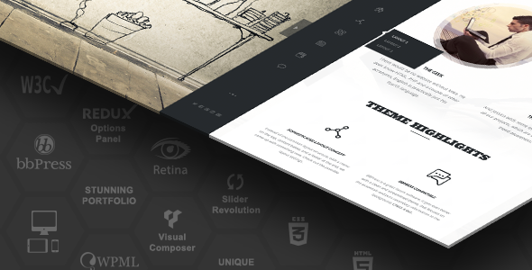 Rebloom Responsive Vertical Menu Split Page Theme