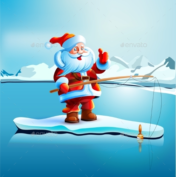 GraphicRiver Santa Claus Shows Thumbs Up 9339653
