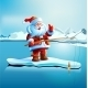 Santa Claus Shows Thumbs Up - GraphicRiver Item for Sale