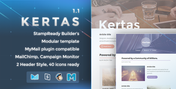 Kertas - Responsive Email Template - Newsletters Email Templates