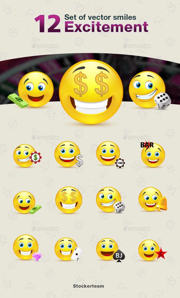 GraphicRiver Smiles 12 Excitement 9339737