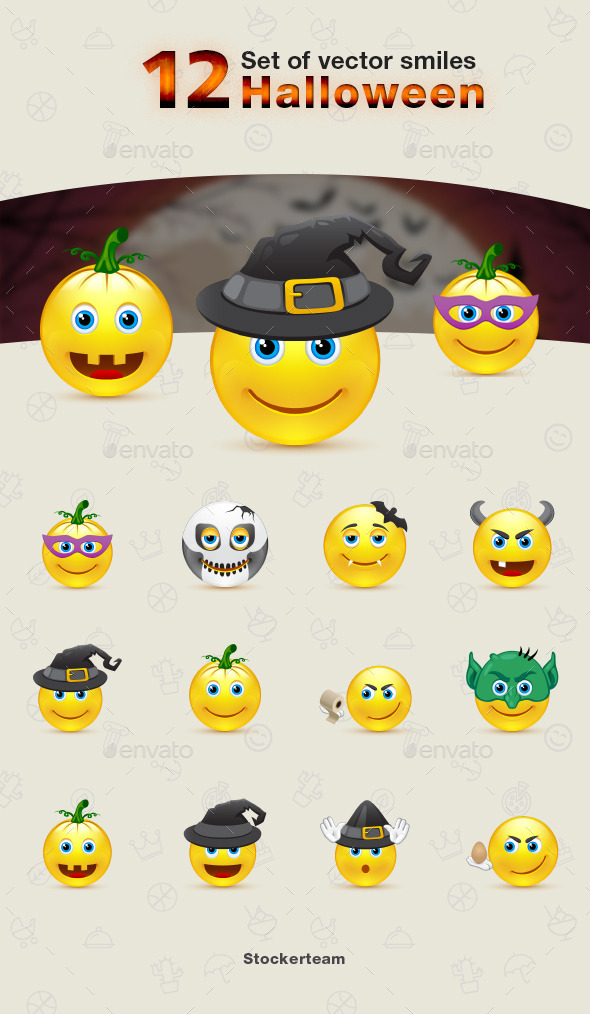 GraphicRiver Smiles 12 Halloween 9339855