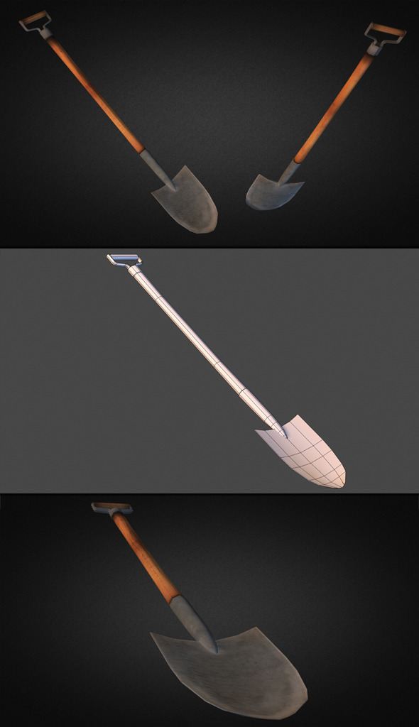 3DOcean Shovel Low Poly 9340006