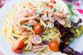 plate of pasta and smoked salmon with tomato - PhotoDune Item for Sale