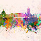Cardiff skyline in watercolor background - PhotoDune Item for Sale