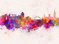Coventry skyline in watercolor background - PhotoDune Item for Sale