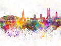 Derby skyline in watercolor background - PhotoDune Item for Sale
