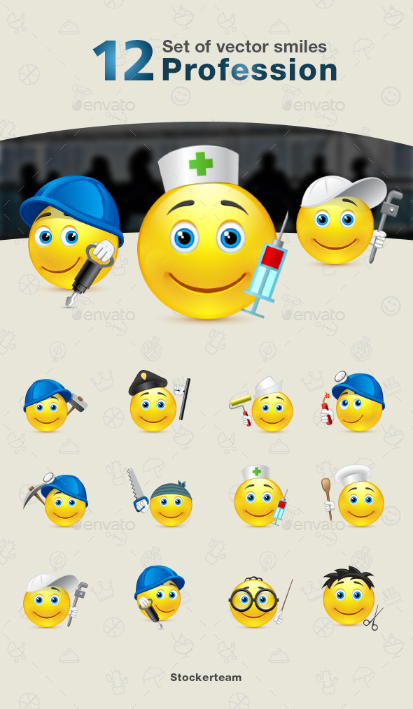 GraphicRiver Smiles 12 Profession 9340065