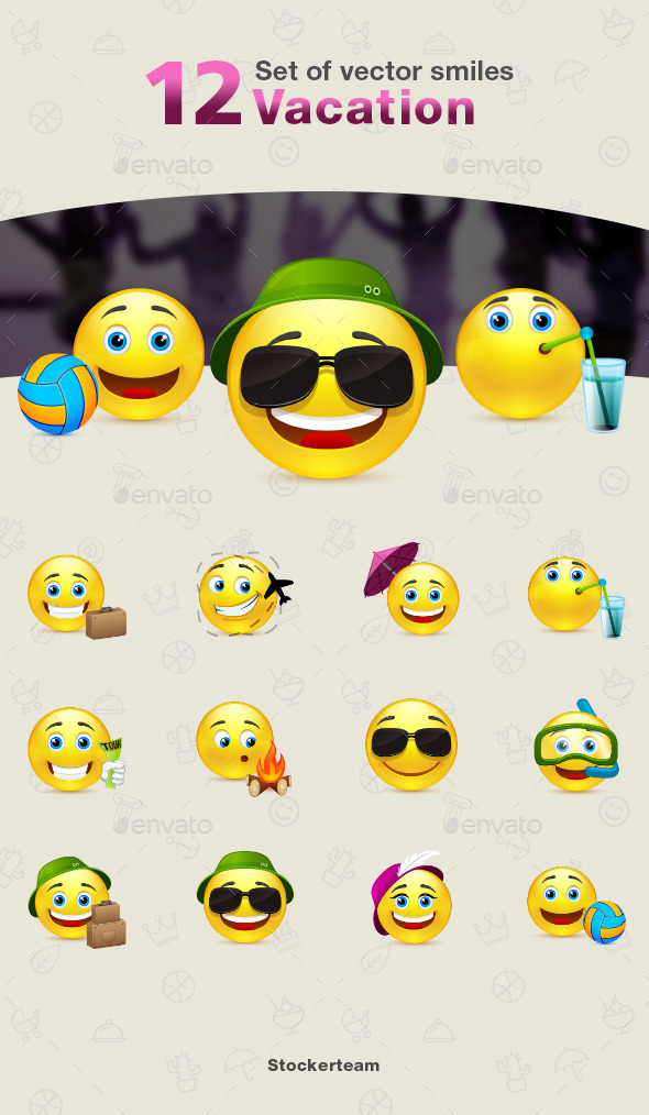 GraphicRiver Smiles 12 Vacation 9340170