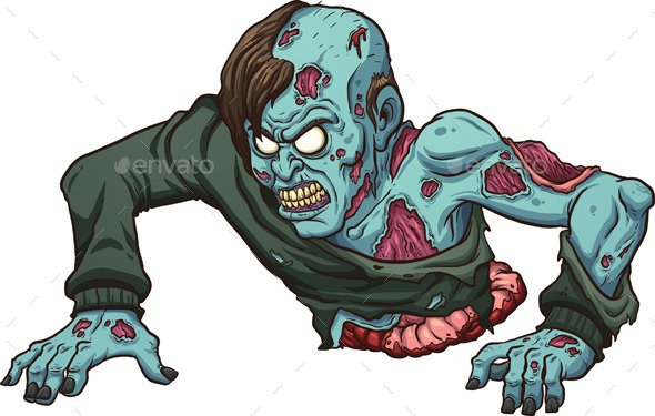 GraphicRiver Crawling Zombie 9340213