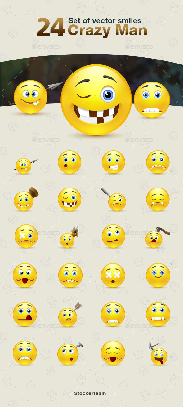 GraphicRiver Smiles 24 Crazy Man 9340273