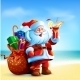Santa Claus Holding a Cocktail - GraphicRiver Item for Sale