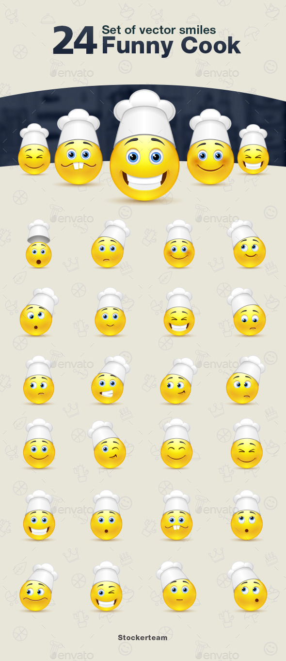 GraphicRiver Smiles 24 Funny Cook 9340323