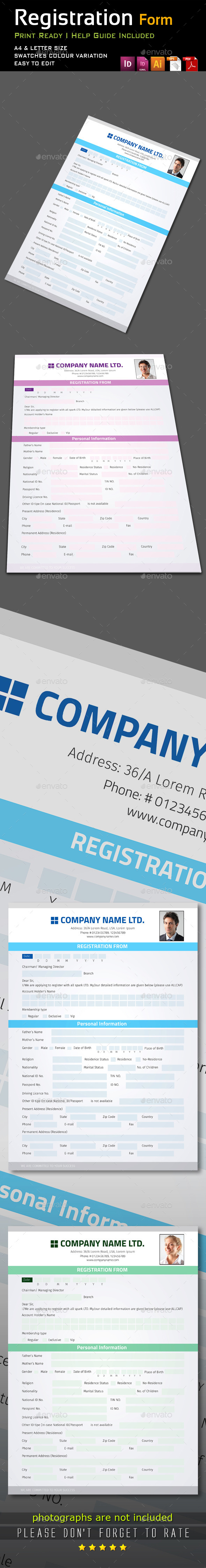 GraphicRiver Registration Form 9302958