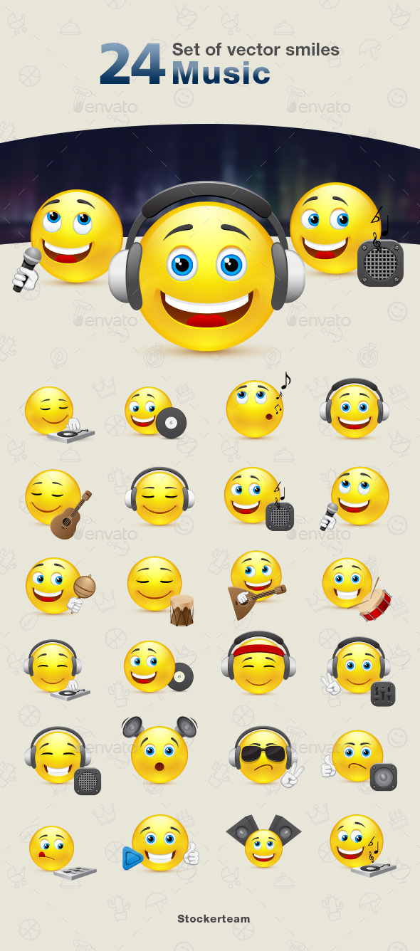 GraphicRiver Smiles 24 Music 9340501