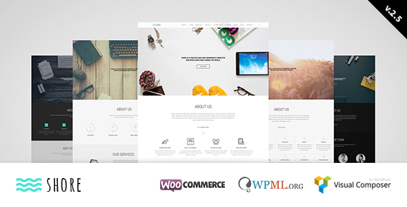 Shore is a powerful and easy to customise WordPress Theme, that can use both OnePage and MultiPage layouts. It features Visual Composer Page Builder with over
