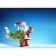 Santa Claus Standing in Snow with a Tree - GraphicRiver Item for Sale