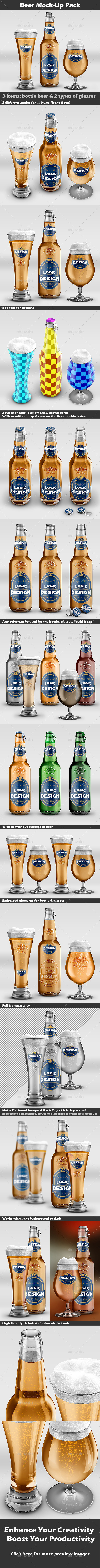 GraphicRiver Beer Mock-Up Pack 9340850