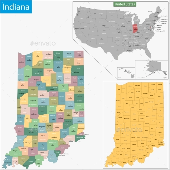 GraphicRiver Indiana Map 9340985