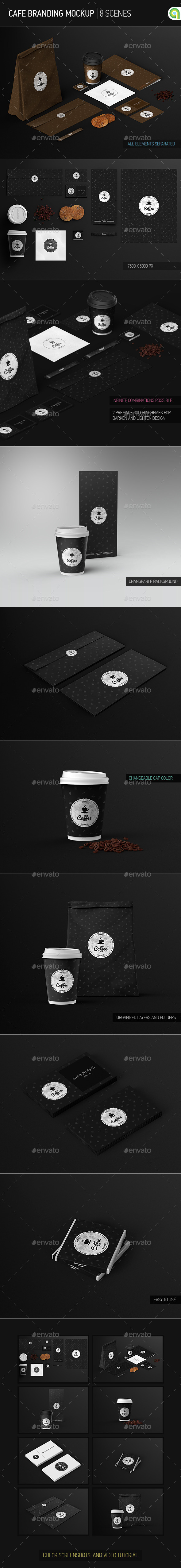 GraphicRiver Cafe Branding Identity Coffee cup Mock-Up 9341184