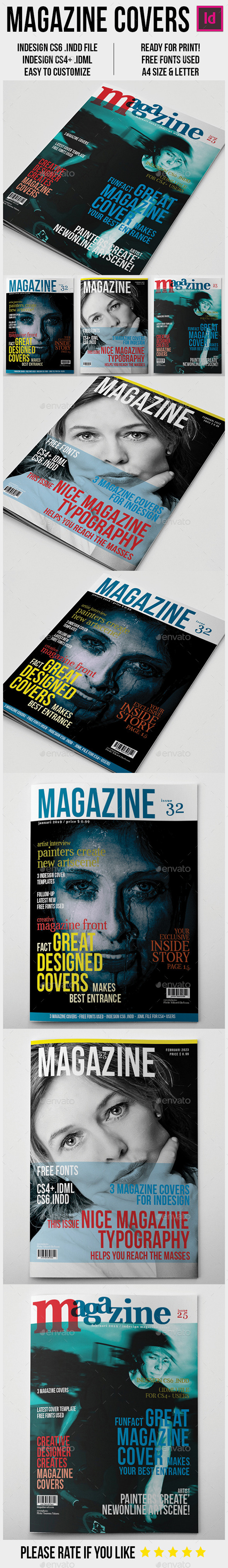 GraphicRiver Magazine Covers Template A4 9341660