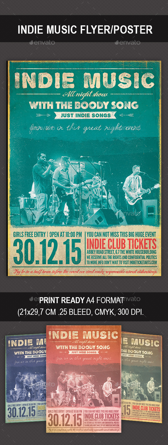 GraphicRiver Indie Music Flyer Poster 9341798