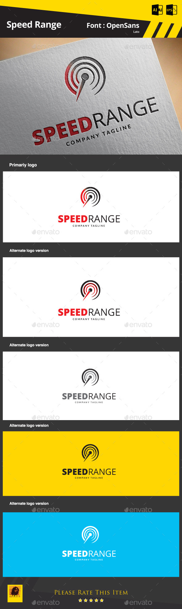 GraphicRiver Speed Range Logo Template 9341802