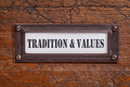 tradition and values - file cabinet label - PhotoDune Item for Sale