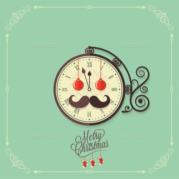 GraphicRiver Christmas Vintage Card Background 9342136