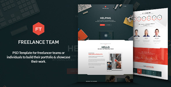ThemeForest Freelance Team PSD Template 9342286