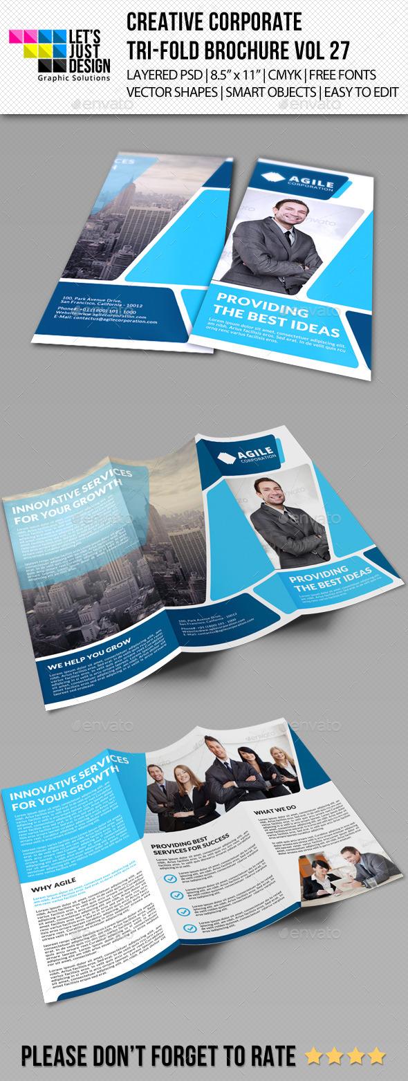 GraphicRiver Creative Corporate Tri-Fold Brochure Vol 27 9342502