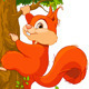 Squirrel on a Tree - GraphicRiver Item for Sale