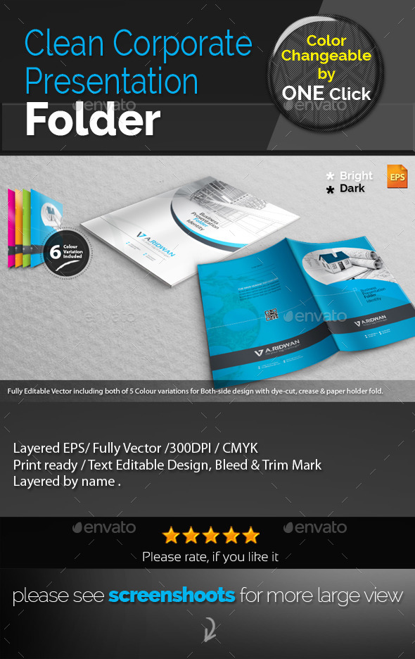 GraphicRiver Clean Corporate Presentation Folder 9342544